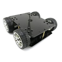 Acrylic Intelligent 4WD Car Tracking Robot Car 4 Wheel Drive Chassis w/4pcs 365A Full Metal Gear Motor Wheel Diameter 65mm