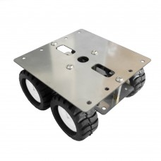 Stainless Steel N20 Smart Car Chassis Geared Motor Car Chassis Frame Metal Robot Model