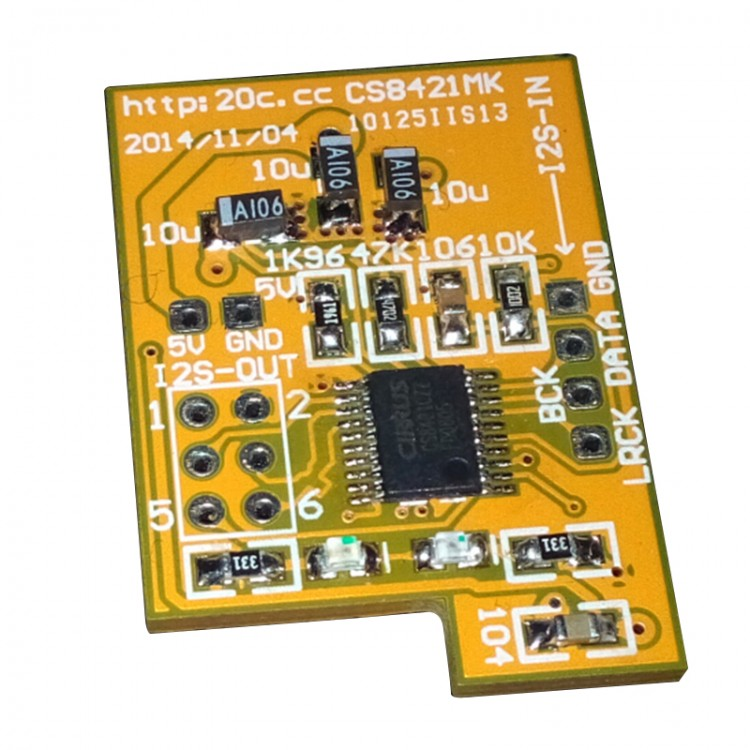 CS8421 I2S Sample Rate Conversion Frequancy Booster Upscaling Board 192K to 211K