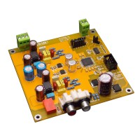Semi-Finished AK4495SEQ 32Bit DAC Decoder Board Dual Channel I2S DSD Input for Audio DIY Yellow PCB
