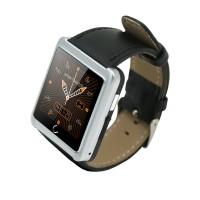 U10L Smart Watch Bluetooth Wristwatch Pedometer Sleep Tracker PU Leather for Android iOS Smartphone