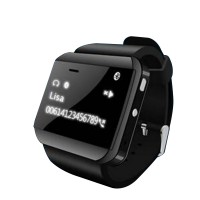U Watch 2S Smart Watch Waistwatch Bluetooth Phonebook Caller Pedometer for iPhone Samsung Android Phone-Black