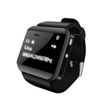 U Watch 2S Smart Watch Waistwatch Bluetooth Phonebook Caller Pedometer for iPhone Samsung Android Phone-Black