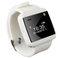 U Watch 2S Smart Watch Waistwatch Bluetooth Phonebook Caller ID Vibration for iPhone Samsung Android Phone-White
