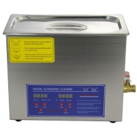 PS-30A Stainless Steel 110V 220V 6L Industry Heated Ultrasonic Cleaner Heater Timer Cleaner with Basket