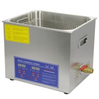 PS-40A AC110220V Stainless Steel Digital Ultrasonic Cleaner 10L 240W Heater Timer Control with Basket