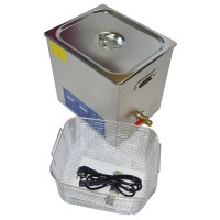 PS-50A AC110V 220V Stainless Steel 40kHZ  240W Digital Heater Timer Control Ultrasonic Cleaner 14L with Basket