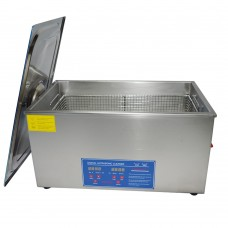 PS-70A 110V 220V Stainless Steel Ultrasonic Cleaner 420W 40KHz 19L Digital Heater Timer Cleaning Equipment with Basket