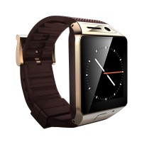 GV08 Smart Watch 1.5 inch 2.0M Camera Support SIM Card Bluetooth Pedometer for Android Phone-Gold