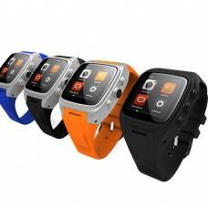 Dual Core Bluetooth X01 Android Smart Wirst Watch with 2G 3G GSM WCDMA SIM Slot 3MP Camera 720P Video Record Music Player