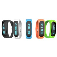 E02 Bluetooth Smart Bracelet Anti-Lost Sport Sleep Monitor Call SMS Reminder Smartband Watch for Android iOS Phone