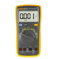 FLUKE F15B+ LCD Digital Multimeter DMM Auto Range Meter Volt Ohm Capacitance with TL75 Test Leads