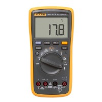 Fluke 17B+ LCD Digital Multimeter Auto Meter for Frequency AC DC Capacitance Diode Temperature
