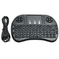 2.4G Wireless Mini Keyboard Touch Pad Mouse Backlit Combo for TV Box Tablet PC
