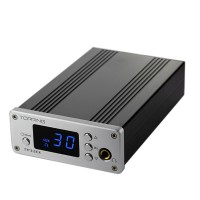 Topping TP32EX+ 50WPC TK2050 T-AMP LED Coaxial USB DAC Headphone Amplifier + Remote Control-Silver