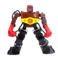 Assembled Tyson 16 DOF Humanoid Robot Frame Kit Contest Dance Robot with Servo Boxing Glove Hood PS2 Handle