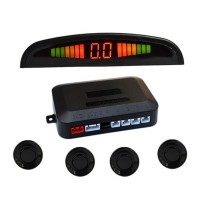 Reversing Radar Car LED Parking Sensor Kit Display 4 Probes for Vehicle Reverse Backup Radar Monitor System