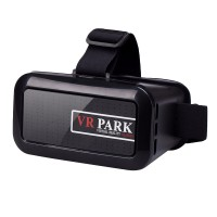 VR BOX 3.0 Plastic Google Cardboard VR 3D Virtual Reality Glasses Helmet for 4.0-6 inch Smartphone-Black