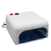 36W UV Nail Lamp Gel Curing Nail Art DIY Nail Dryer Art Tool with 4pcs 365nm UV Bulb-White