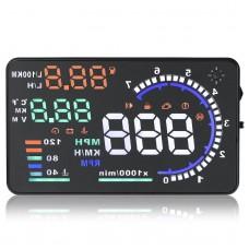 A8 5.5 Car HUD Head up Display with OBD 2 Interface Plug Headup RPM MPH KPH Fuel Consumption Multi-Colors