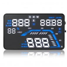 Q7 5.5 Auto Car HUD GPS Head Up Display Overspeed Warning Dashboard Windshield Project Speedometers