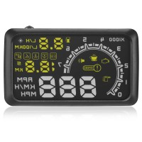W02 5.5 inch Car HUD Head Up Display Projector Speeding Warning System OBDII Interface KM/h Car PC Driving Data