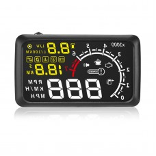 X3 5.5 inch Car HUD Head Up Display Car Styling Speeding Warning System 12V OBD II OBD2 Interface KM/H