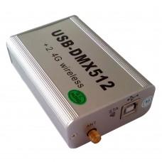 2.4G Wireless+Wired USB-DMX512 Console+3D Simulation DMX512 Control LED Light PAR Controller