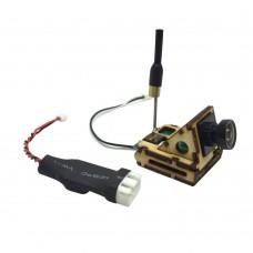 90 Degree Bracket HD Mini 600TVL FPV Camera Built-in 5.8G 200mW 8CH Transmitter TX with Voltage-Down Line