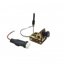 70 Degree HD Mini 600TVL FPV Camera Built-in 5.8G 200mw 8CH Transmitter TX with Voltage-Down Line