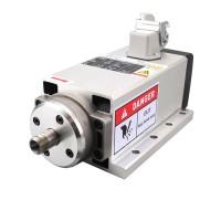 Square 1.5KW 220V Inverter Output Air Cooling ER11 Spindle Motor for CNC Engraving Machine