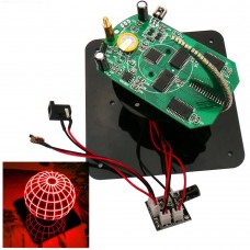 Spherical Rotary LED Kit 56 Lamp POV Rotary Clock Parts DIY Electronic Welding Rotary Lamp for DIY Unassembled-Red