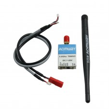 Aomway 5.8G T600MW 40CH Audio Video Wireless Transmitter Tx for FPV Multicopter