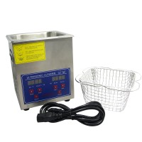 PS-10A 110V 220V 80W Digital Ultrasonic Cleaner 2L Cleaning Machine for Jewellery Clean with Basket
