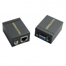 60M VGA Signal to RJ45 Signal Extender Transmitter + Receiver Set Single Ethernet Cable