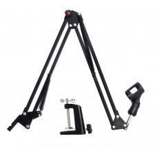 NB-35 Adjustable Desktop Mic Stand Microphone Suspension Boom Scissor Arm Mount Shock Stand Holder