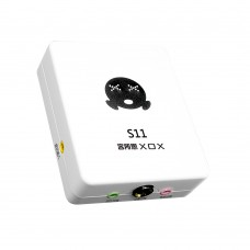 XOX S11 USB Sound Card 2-in 2-out Audio Card for Computer Network DJ Karaoke