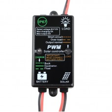 CMP-03 5A 12V ST Solar Controller Waterproof Solar Panel 8h Control Charger Controller PV Battery Charge Regulator