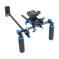 YELANGU D3 Double Handle DSLR Rig Shoulder Mount Rig Stabilizer Gimbal for DSLR Camera and Camcorder
