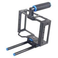 YELANGU C1 Aerial Aluminum Protable DSLR Camera Cage for Cameras and Camcorders