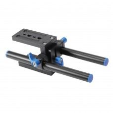 "YELANGU A10 Aluminium Alloy Rail System 15mm Rod with 1/4"" Screw Quick Release Plate for DSLR Camera"