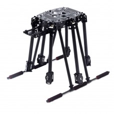 Unassembled Lji ZD850 Z6 Plus 850mm Umbrella Carbon Fiber Folding 6-Axis Hexacopter Frame with Landing Gear
