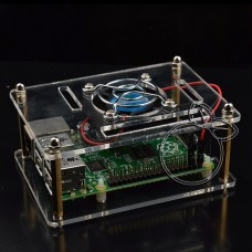 Transparent Acrylic Case + Cooling System External Fan + Screw Driver Tool for Raspberry Pi 3 2 B B+