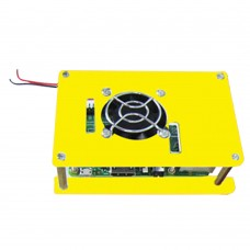 Laminated Shell Monolayer Case + Cooling System Fan for Raspberry Pi B B+ 2 3 -Yellow