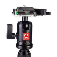 Kingjue QB-0 Mini Ball Head Gimbal Portable 360 Degree Swivel Monopod Tripod Head for SLR Camera