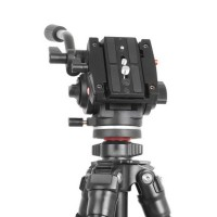 VT-3510 Video Tilt Pan Handle Hydraulic Damping Gimbal Tripod Monopod Head for Camera Photography