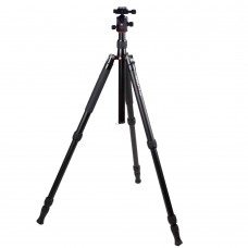 K1008+Q10 Aluminum Alloy Professional Tripod + Damping Gimbal Kit for Digital Camera
