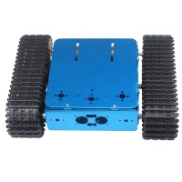 Assembled Aluminum Tracked Vehicle Tank Chassis Blue Caterpillar Tractor Crawler Intelligent Robot Car for Arduino
