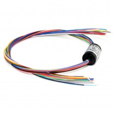 12 Channels 2A 12.5mm Electric Brushless Gimbal Slip Ring Monitor Conducting Ring for Brushless Motor