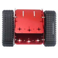 Unassembled TZTROT-6 Red Tracked Vehicle Tank Chassis Crawler Remote Control Robot Car with DC Motor for Arduino